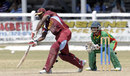 Fabian Allen drives down the off side, West Indies Under-19s v Bangladesh Under-19s, Youth ODI Series, Guyana, October 19, 2013