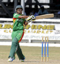 Joyraz Sheik plays a pull, West Indies Under-19s v Bangladesh Under-19s, Youth ODI Series, Guyana, October 19, 2013