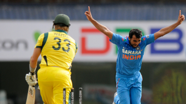 Mohammed Shami had Shane Watson bowled with a peach