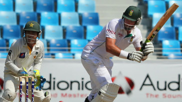 Graeme Smith works one away to the leg side