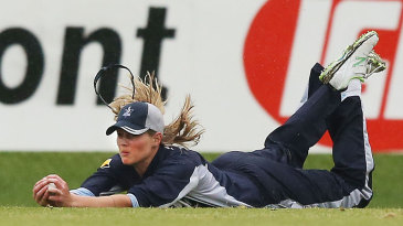 Meg Lanning dives full length to take a catch