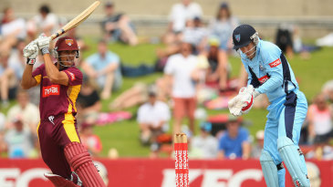 Usman Khawaja set up Queensland's chase with a century