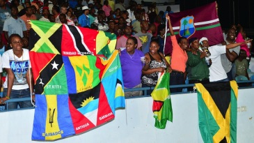 West Indies fans came out to support their team
