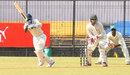 Satyam Choudhary flicks off his pads on his way to a century, Madhya Pradesh v Railways, 1st day, Group B, Ranji Trophy, October 27, 2013