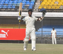 Satyam Choudhary celebrates his maiden double century, Madhya Pradesh v Railways, 2nd day, Group B, Ranji Trophy, October 28, 2013
