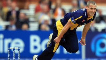 Simon Jones in his final appearance for Glamorgan