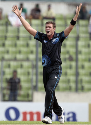 Tim Southee picked up three wickets, Bangladesh v New Zealand, 1st ODI, Mirpur, October 29, 2013