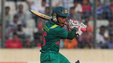 Mushfiqur Rahim attacks the off side