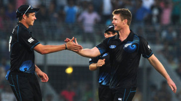 Tim Southee and James Neesham notched seven wickets between them