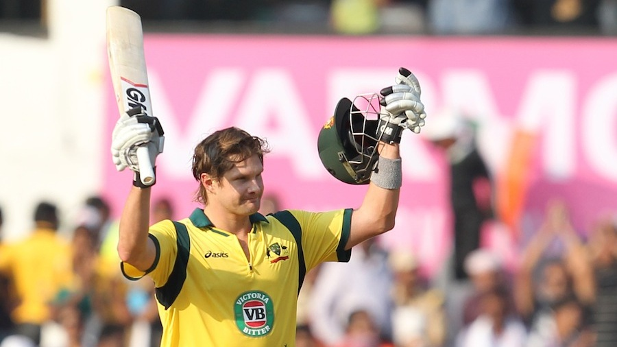 Shane Watson brought up his ninth ODI hundred