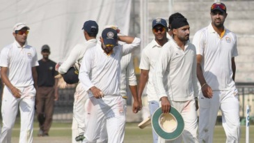 Harbhajan Singh picked up three wickets in the second innings
