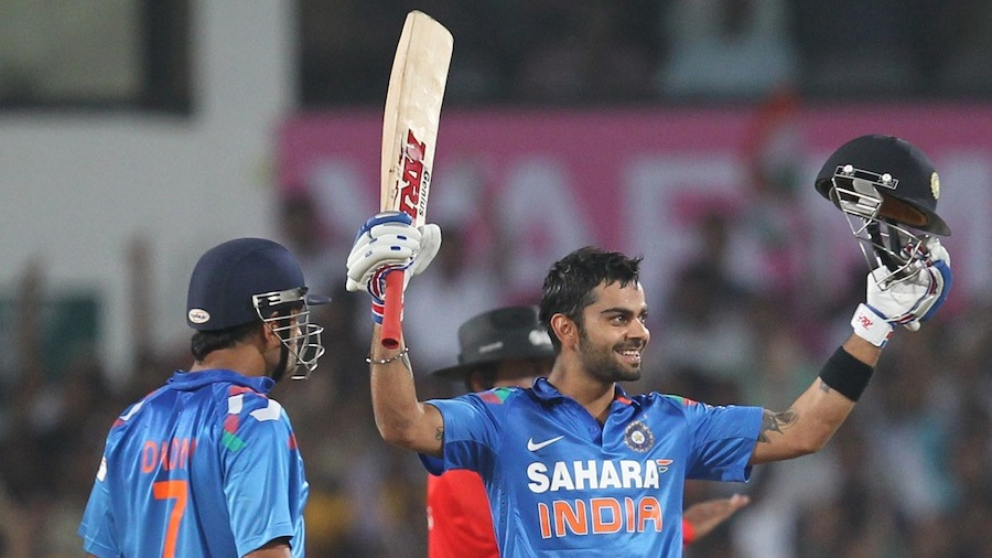 Virat Kohli brought up his hundred off 61 balls