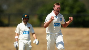 Doug Bollinger ended day two with six wickets