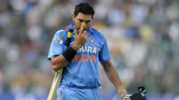 Yuvraj Singh again failed to get going