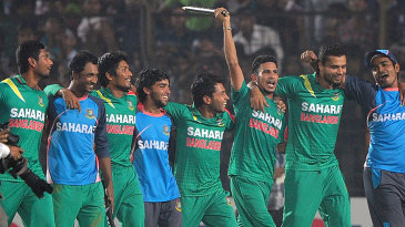 Bangladesh do a victory lap after sealing the series 3-0