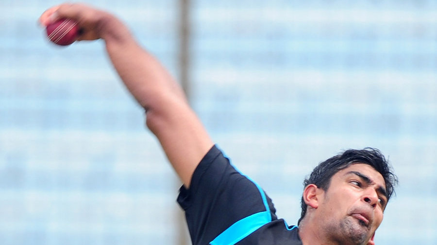 Ish Sodhi at a training session at the Zahur Ahmed Chowdhury Stadium in Chittagong