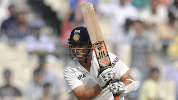 Sachin Tendulkar came in to bat early on day two