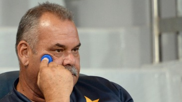 A pensive Dav Whatmore looks on