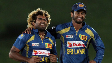 Lasith Malinga cleaned up Anton Devcich's stumps