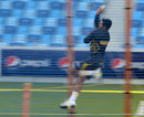Abdul Razzaq in his bowling stride, Dubai, November 12, 2013