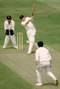 Colin Cowdrey batting for Old England against Old Australia at The Oval, August 20, 1980