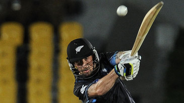 Luke Ronchi heaves one down the ground