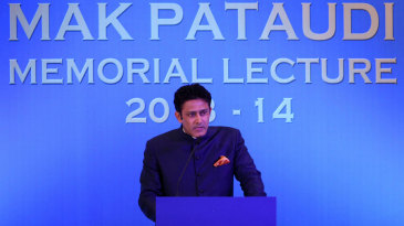Anil Kumble delivers the annual Mansur Ali Khan Pataudi lecture