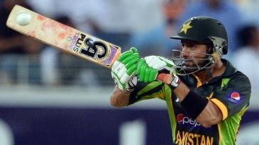 Shoaib Malik puts one away on the off side