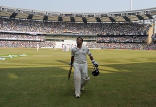 Sachin Tendulkar walked off the field to deafening applause