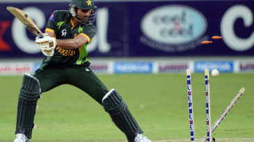 Sohail Tanvir finds his stumps rearranged