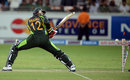 Abdul Razzaq was bowled off the first ball, Pakistan v South Africa, 2nd T20I, Dubai, November 15, 2013