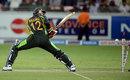 Abdul Razzaq was bowled off the first ball, Pakistan v South Africa, 2nd T20I, Dubai, November 15, 2013