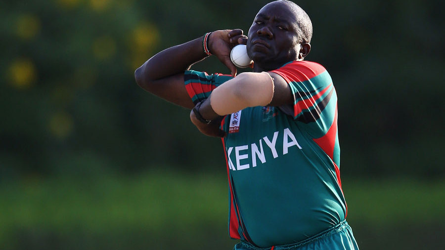 The veteran Steve Tikolo bowled just one over