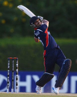 Sharad Vesawkar smashed three sixes in six balls, Kenya v Nepal, ICC World Twenty20 Qualifier, Group B, Dubai, November 16, 2013