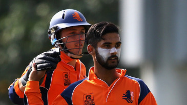 Netherlands' Ahsan Malik picked up four wickets in his spell