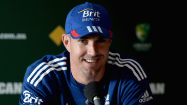 Kevin Pietersen speaks to the media