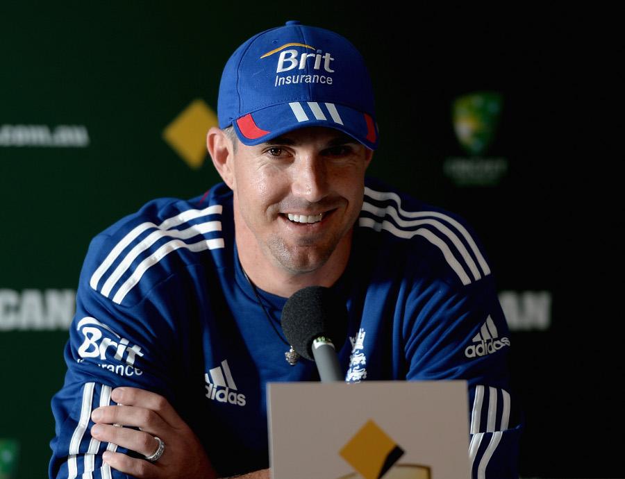 Kevin Pietersen speaks to the media