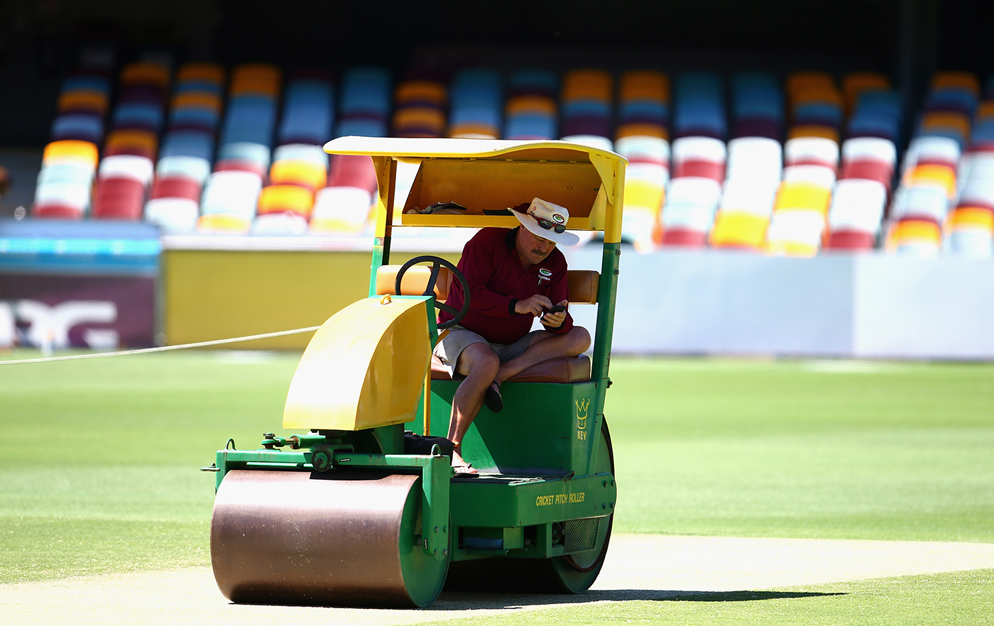 Kevin Mitchell Jr first started working on the Gabba surface in 1984 as an assistant to his father, took over as head curator in 1990, and is set to retire after the 2017 Test