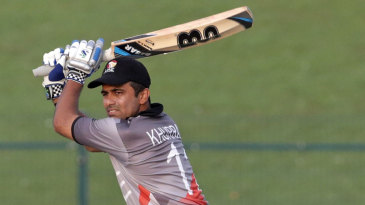 Khurram Khan during his 67 not out