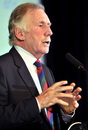 Ian Chappell speaks at the ESPNcricinfo for Cricket Summit in Brisbane, November 19, 2013
