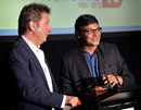 Mark Nicholas and ESPNcricinfo editor Sambit Bal at the summit, Brisbane, November 19, 2013