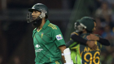 Hashim Amla was dismissed for 31