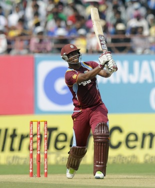 Johnson Charles takes the aerial route, India v West Indies, 1st ODI, Kochi, November 21, 2013