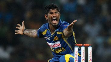 Ramith Rambukwella picked up his maiden T20 wicket