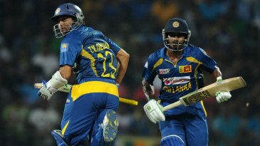 Kusal Perera and Tillakaratne Dilshan added 96 for the second wicket