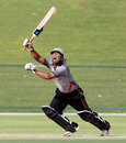 Mohammad Azam attempts a lofted shot, United Arab Emirates v Canada, World Twenty20 Qualifier, Group A, Abu Dhabi, November 22, 2013