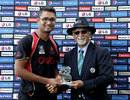 Harvir Baidwan was Man of the Match for his 4 for 23, United Arab Emirates v Canada, World Twenty20 Qualifiers, Group A, Abu Dhabi, November 22, 2013