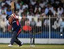 Opener Sagar Pun hit two sixes before he was bowled for 22, Afghanistan v Nepal, ICC World Twenty20 Qualifier, Group B, Sharjah, November 22, 2013