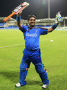 Mohammad Shahzad smashed an unbeaten 43 to guide Afghanistan to victory, Afghanistan v Nepal, ICC World Twenty20 Qualifiers, Group B, Sharjah, November 22, 2013