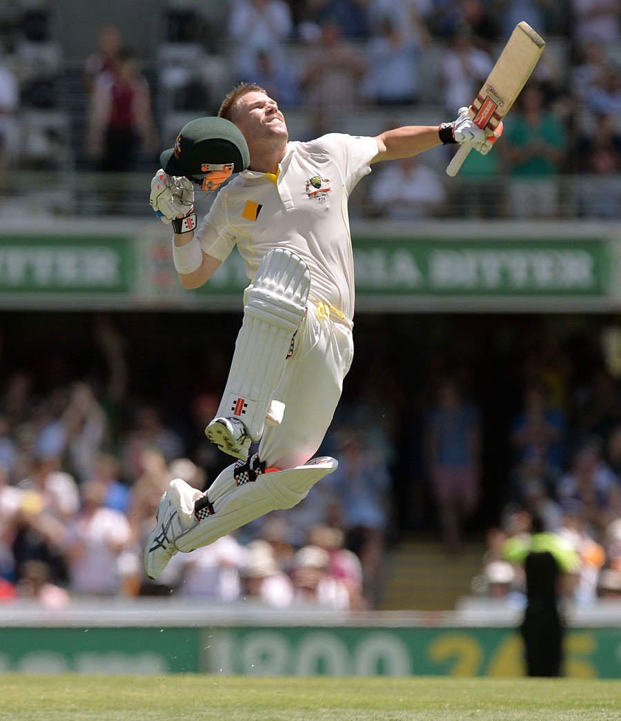 Cricket: Jumping for joy: David Warner completes his first Ashes ...